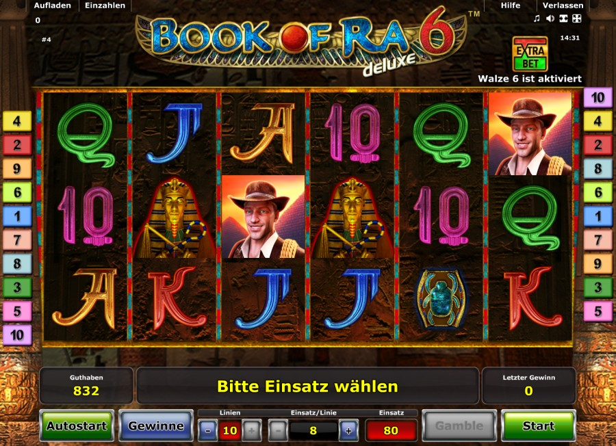 book of ra casino online wonky