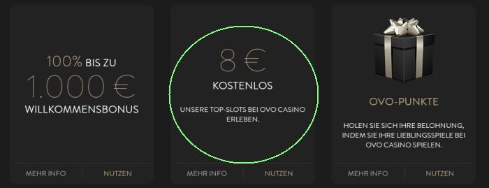 neue boni bei ovo casino